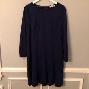New Loft Ponte Knit Navy Dress